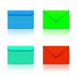 Enveloppes colorées Photo stock