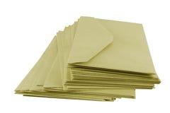 Enveloppes de Brown Photos libres de droits