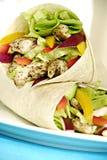 Enveloppes de salade de poulet Images stock