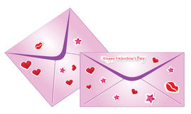 Enveloppes de Valentine Image stock
