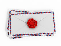 Enveloppes with e-mail sign Royalty Free Stock Photos