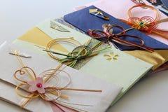 Enveloppes japonaises d'argent Photo stock