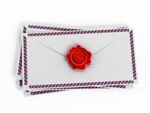 Enveloppes med mejltecknet Royaltyfria Foton