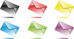 Enveloppes multicolores Images libres de droits