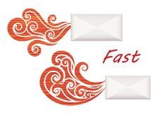 Enveloppes rapides Image stock