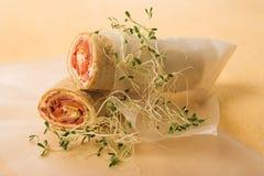 Enveloppes saines de tortilla images stock