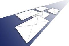 Enveloppes sur le chemin Images stock