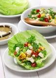 Enveloppes végétariennes de laitue image stock