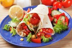 Enveloppes végétariennes de tortilla photo libre de droits