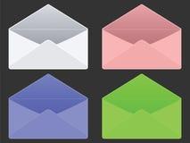 Enveloppes vides Photos stock