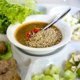 Enveloppes vietnamiennes de boulette de viande (Nam Neung) Image stock
