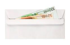 Enveloppez avec des euro image stock