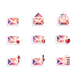 Enveloppictogrammen Royalty-vrije Stock Foto's