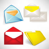 Envelops and folder set Stock Images
