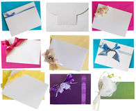 Envelops with notes Stock Images