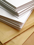 Envelops stacked Royalty Free Stock Photography