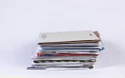 Envelops Stacked Royalty Free Stock Image