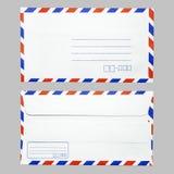 Envelpevoorzijde en rug Stock Afbeeldingen