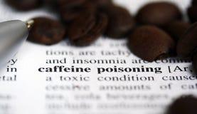 Envenenamento da cafeína. fotos de stock royalty free
