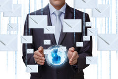 Enviamento do negócio na rede global imagens de stock