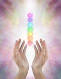 Enviando a chakra a energia cura Imagens de Stock Royalty Free