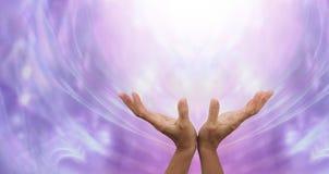 Enviando a cura distante na luz Imagem de Stock