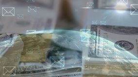 Enviando el dinero global metrajes