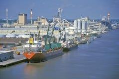Enviando en el puerto de sabana, sabana, Georgia Imagen de archivo libre de regalías