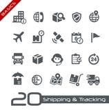 Enviando & seguindo a série dos princípios de //dos ícones Foto de Stock Royalty Free