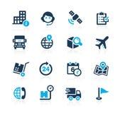Enviando y siguiendo //Azure Series stock de ilustración
