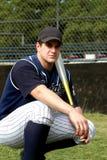 Enviciado al juego del béisbol Imagenes de archivo