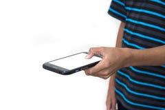 Enviciado al teléfono Imagen de archivo libre de regalías