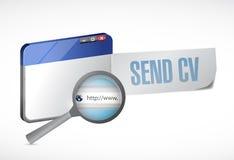 Envie a cv o projeto em linha da ilustração Imagens de Stock