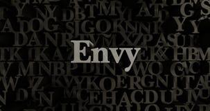 Envie - 3D a rendu l'illustration composée métallique de titre illustration libre de droits