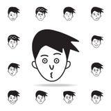 envie de l'icône de visage Ensemble détaillé d'icônes faciales d'émotions Conception graphique de la meilleure qualité Une des ic illustration de vecteur