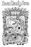envie Le mot latin Invidia signifie la jalousie illustration stock