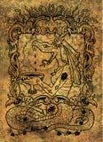 envie Le mot latin Invidia signifie la jalousie Concept de sept péchés mortels sur le fond grunge illustration stock