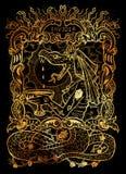 envie Le mot latin Invidia signifie la jalousie Concept de sept péchés mortels sur le fond noir illustration de vecteur