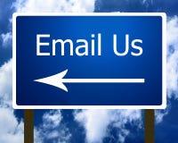 Envie-nos por correio electrónico o sinal Fotografia de Stock
