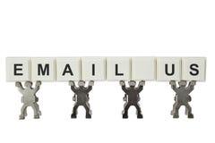 Envie-nos por correio electrónico Fotografia de Stock