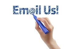 Envie-nos por correio electrónico Fotos de Stock