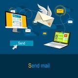 Envie o conceito do correio Fotografia de Stock
