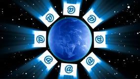 Envie o email ao mundo ilustração royalty free