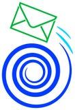 Envie o logotipo ilustração do vetor
