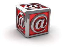 Envie por correio electrónico aliás na caixa ilustração do vetor