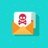 Envie por correio eletrónico a ideia do ícone do Spam, conceito da mensagem de email do embuste, recepção alerta do malware, Inte Fotografia de Stock Royalty Free