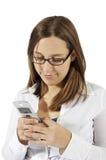 Envio de mensagem de texto Imagens de Stock
