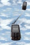 Envio de mensagem de texto Fotografia de Stock