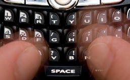 Envio de mensagem de texto Fotos de Stock