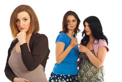 Envious women gossip Royalty Free Stock Images